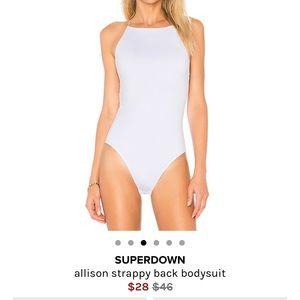 SUPERDOWN REVOLVE White Body Suit